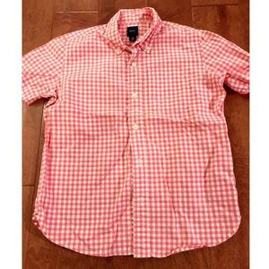 Gap Pink Gingham Button Up
